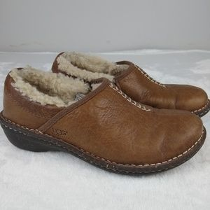 UGG Australia Brown Leather Bettey Slip-On Shoes
